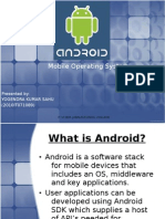 Android mobile operating system Ppt