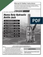 Pittsburgh Hydraulic jack Manual 66482