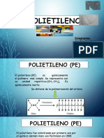 Diapositivas de Expo de Tratamiento Petroquimico. Polietileno .