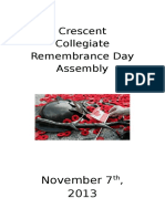 2013 Remembrance Day Program