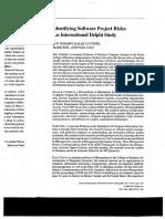 Schmidt, Lyytinen, Keil, Cule, 2001, Identifying Software Project Risks. An International Delphi Study.pdf