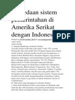 Perbedaan Sistem Pemerintahan Di Amerika Serikat Dengan Indonesia