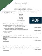 Soalan Matematik Tambahan Tingkatan 4 Kertas 2