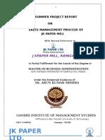 Sales Management Process of Jkpm