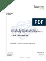 Le Metier de Chirurgien Dentiste - Caracteristiques Actuelles Et Evolutions