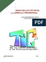 IMPORTANCIA DE LAS TICS EN EL   DESARROLLO PROFESIONAL