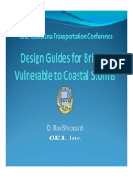 Design Guides for Bridges Vulnerable to Coastal Storms
