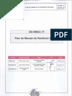 OD-SMAC-17 Plan de Manejo de Residuos Sólidos}