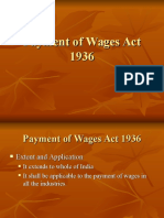 Payment of Wages Act 1936