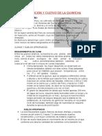 Distribucion y Cultivo de La Quiwicha