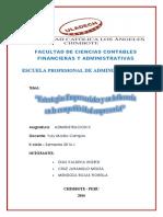 EXTRATEGIAS EMPRESARIALES y su influencia en la competitividad, monografia I