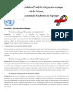Fundación Mundial en Pro de La Integración Asperger