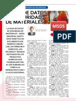Material Safety Data Sheet - Hoja Informativa Sobre Sustancias MSDS