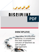 DISCIPLINE (classroom management)