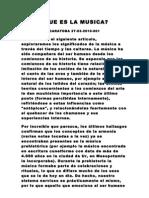 001 ¿QUE ES LA MUSICA- CARATOBA 27-03-2010