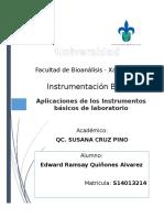 Aplicaciones de Los Instrumentos Básicos de Laboratorio