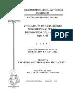 Tesis Sobre Iconografis Siglo Xvii Mexico Colonial