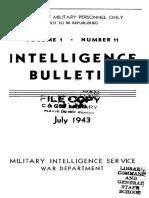 (1943) Intelligence Bulletin, Vol. I, No. 11