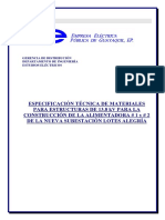 Espec Tec Materiales Linea de 13 Kv Para Lotes Alegria 1 y 2