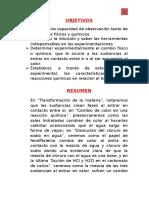 Informe 02 de Quimica 1