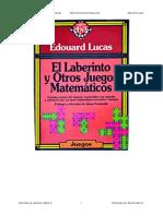El Laberinto y Otros Juegos Matematicos - Edouard Lucas