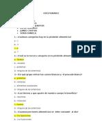 Dietetica y Nutricion Cuestionario