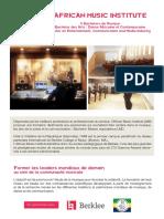 Brochure - African Music Institute