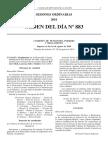Orden Del Dia Art 36 Reglamento
