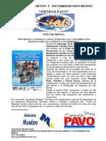 Nota Prensa Club Salvamento y Socorrismo Don Benito