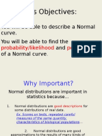 normal distribution and sd