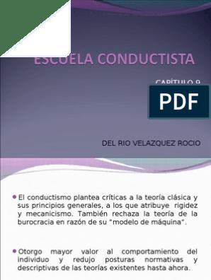 Escuela Conductista En La Administración Motivación