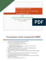 Presentasi NIDN Dan NIDK News