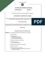 Proyecto Decreto modificacion estructura 2014 MAYO DCC.pdf