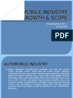 Automobile Industry Growth & Scope