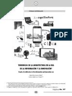 TENDENCIAS DE LA ARQUITECTURA EN LA ERA DE LA INFORMACIÓN Y LA INNOVACIÓN