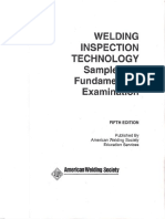 CWI Foundemental Examination 5th Ed