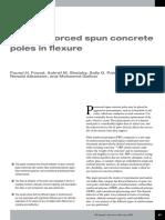 FRP Reinforced Spun Concrete Poles Flexure Jan 15 3