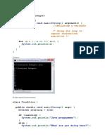 Java Simple Examples