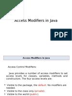 Access Modifier