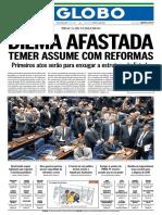O Globo - 12 de Maio de 2016