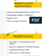 Cognitiva y Simbólica I Presentación Asignatura 2015-16