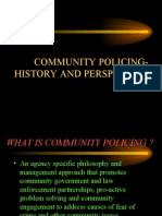 community policing definition and history