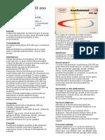 Acetilcisteina LPH 200 Mg