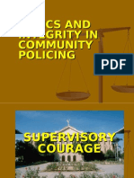 ethics and integrity for community policing