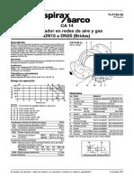 CA 14 Eliminador en Redes de Aire y Gas DN15 a DN25 (Bridas)-Hoja Técnica
