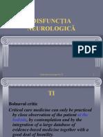 10. Disfunctia neurologica