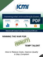 ICMI16 - Winning the War for Quality Temp Talent - Inman - FINAL