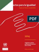 CEPAL (2014) Pactos Para La Igualdad