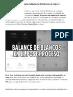 ¿Cómo utilizar la tarjeta de Balance de blancos en el post-proceso? - Aprender a iluminar en fotografía