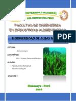 Biodiversidad de Algas Marinas
